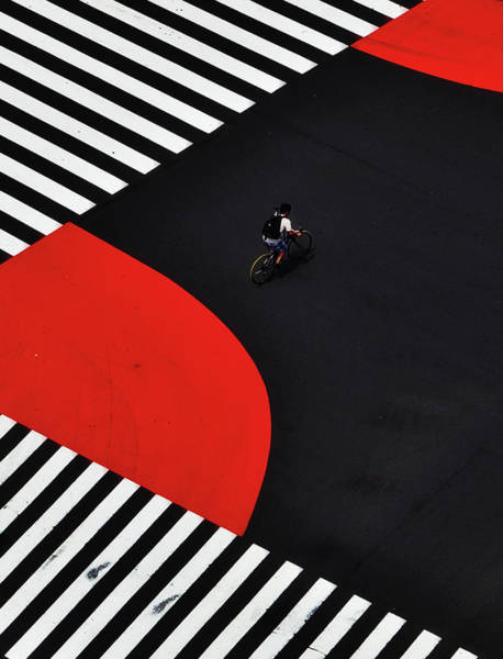 Rider Photograph - Along A Road by Keisuke Ikeda @