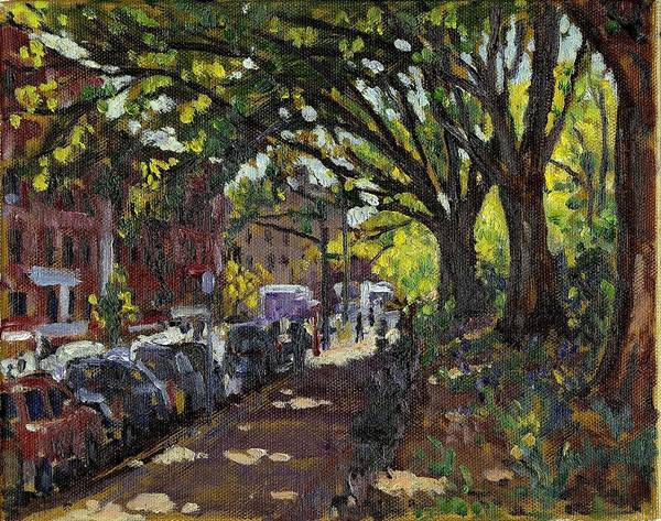 Painting - Along Broadway In Inwood New York City by Thor Wickstrom