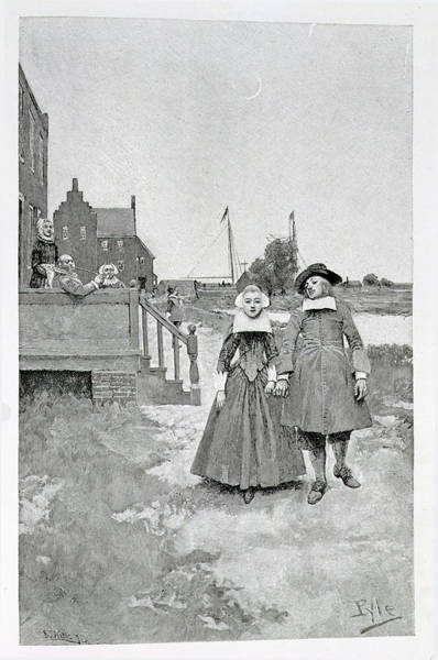 Brandywine Wall Art - Photograph - Along The Canal In Old Manhattan, Illustration From The Evolution Of New York By Thomas A. Janvier by Howard Pyle