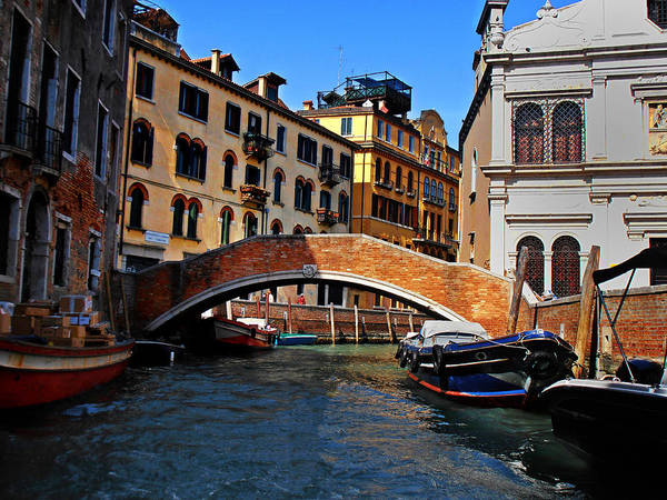 Photograph - Along The Canals Of Venice by Bill Cannon