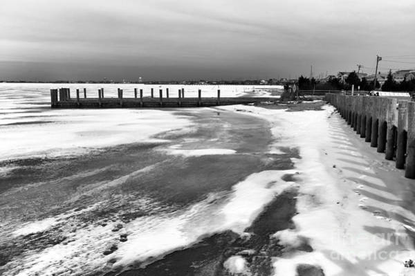 Down The Shore Photograph - Along The Frozen Shore Mono by John Rizzuto