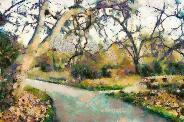 Mixed Media - Along The Path by Priya Ghose