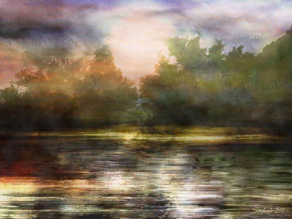 Fractal Landscape Digital Art - Along The Riverside by Stefano Popovski