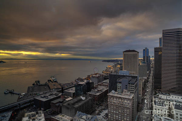 Elliott Photograph - Along The Seattle Waterfront by Mike Reid