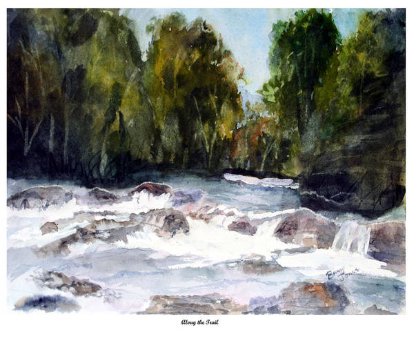 Painting - Mountain - Landscape - Stream - Along The Trail by Barry Jones