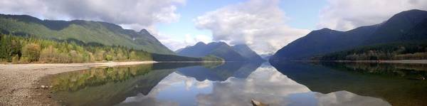 Alouette Wall Art - Photograph - Alouette Lake Panoramic Reflections - Golden Ears Provincial Park, Maple Ridge, British Columbia by Ian Mcadie