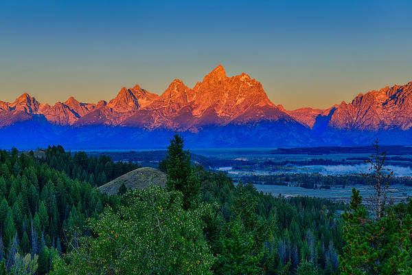 Wall Art - Photograph - Alpenglow Across The Valley by Greg Norrell