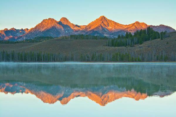 Alpenglow Photograph - Alpenglow, Sunrise, Reflections, Little by Michel Hersen