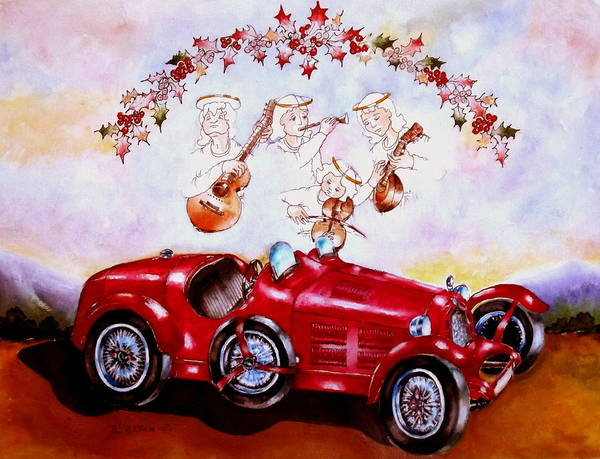 Painting - Alpha Romeo. by Anne Dalton