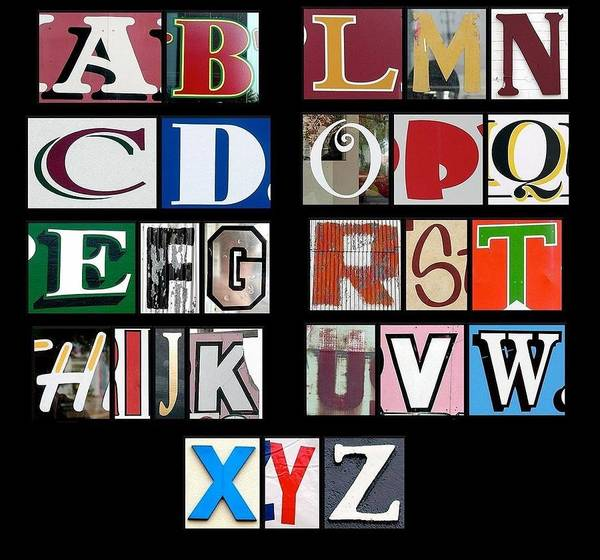 Brian Wilson Wall Art - Photograph - Alphabet by Brian Wilson