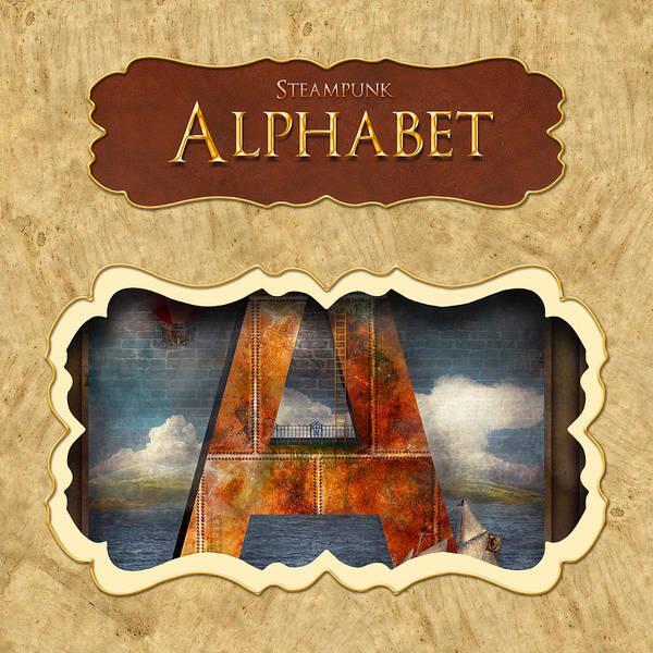Digital Art - Alphabet Button by Mike Savad