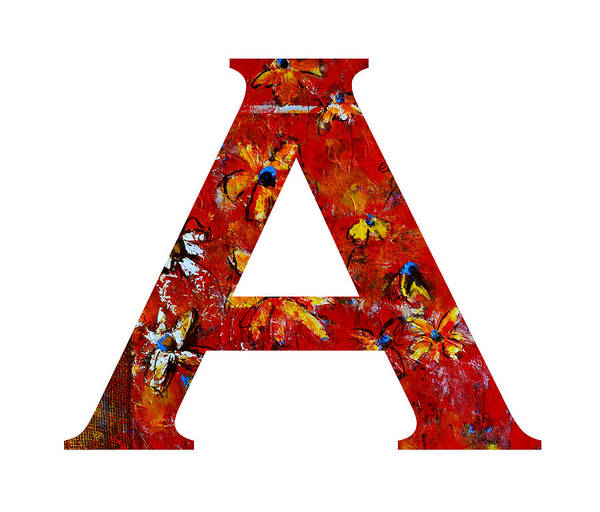 Painting - Alphabet Letter A by Patricia Awapara