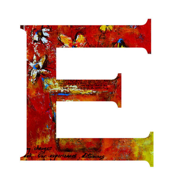 Painting - Alphabet Letter E by Patricia Awapara
