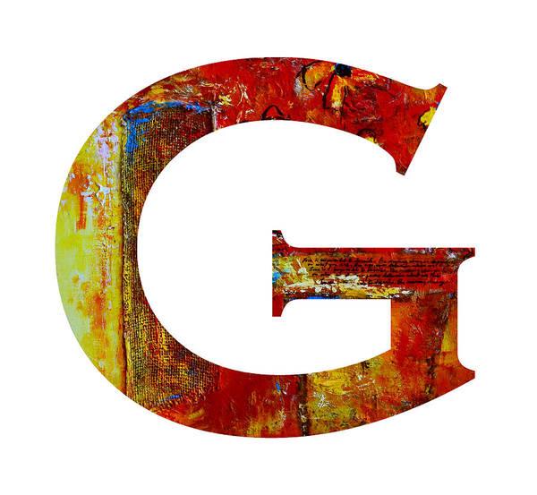 Painting - Alphabet Letter G by Patricia Awapara