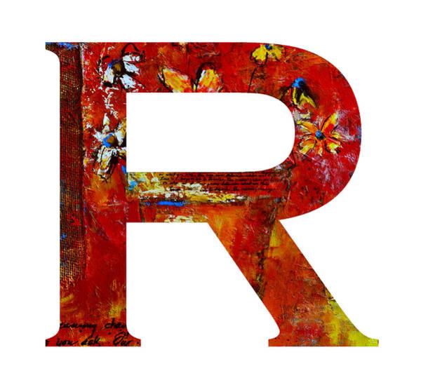 Painting - Alphabet Letter R by Patricia Awapara