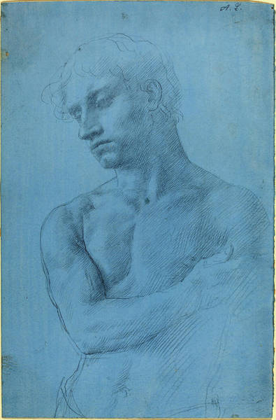 Prepare Drawing - Alphonse Legros, Bust Of Nude Man, French by Quint Lox