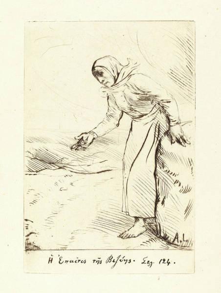 Wall Art - Drawing - Alphonse Legros, Frontispiece The Beggar Woman Of Veze by Litz Collection