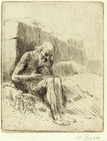Wall Art - Drawing - Alphonse Legros, Job, 2nd Plate, French, 1837-1911 by Litz Collection