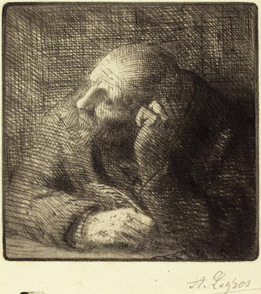 Meditation Drawing - Alphonse Legros, Meditation La Meditation by Quint Lox