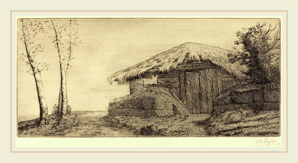 Wall Art - Drawing - Alphonse Legros, Shepherds Hut On A Hillside  Bergerie Sur by Litz Collection