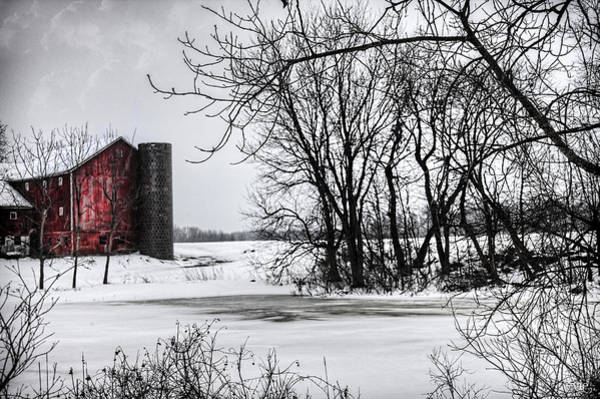 Evie Photograph - Alpine Barn Michigan by Evie Carrier