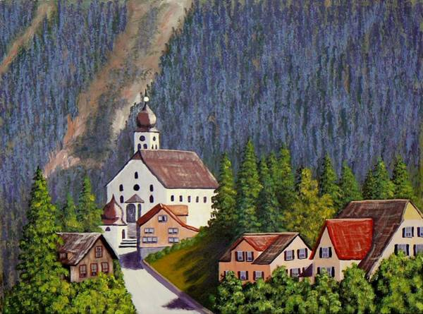 Painting - Alpine Church by Ray Nutaitis