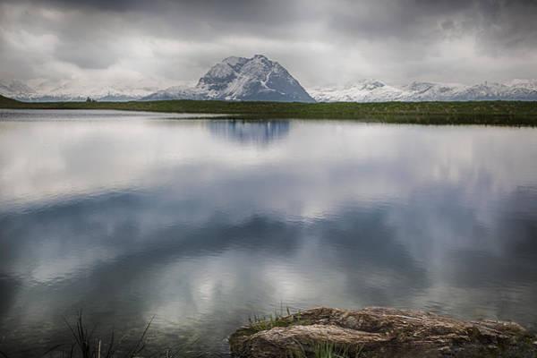 Alpine Photograph - Alpine Lake Reflection by Nigel Jones
