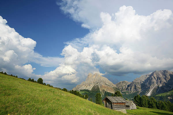 Barn Photograph - Alpine Meadow And Hay Barn In Front Of by Andreas Strauss / Look-foto