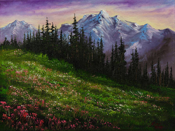 Wall Art - Painting - Alpine Meadow by Chris Steele