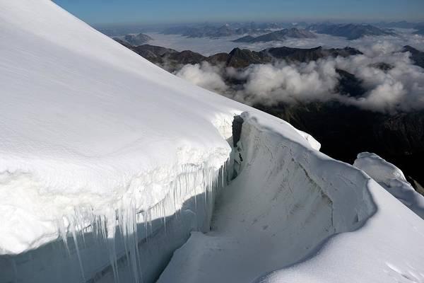 Eastern Europe Photograph - Alpine Mountain Crevasse by Martin Rietze