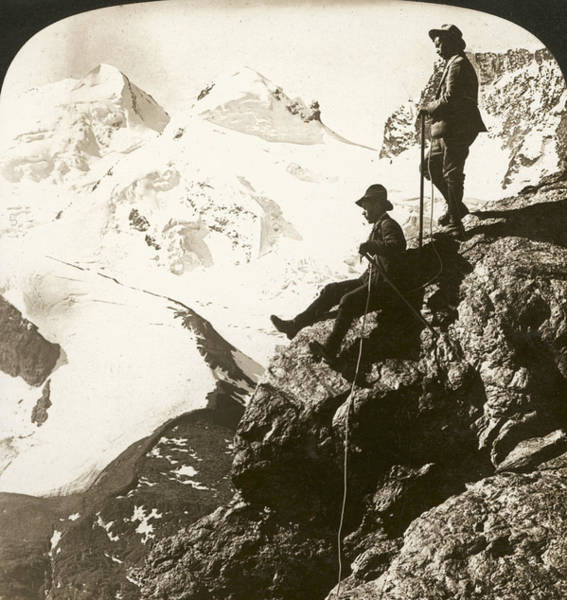 Photograph - Alpine Mountaineers, 1908 by Granger