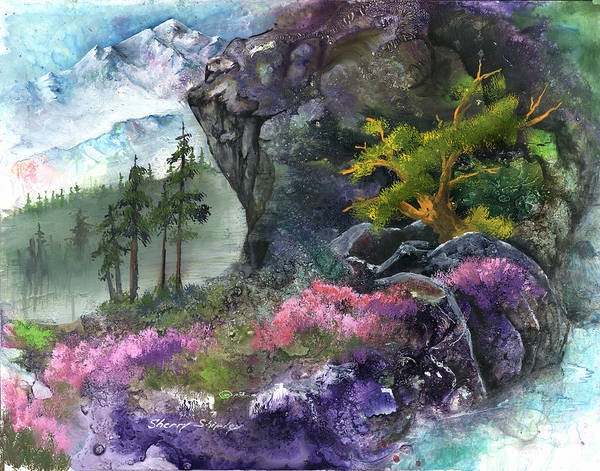 Painting - Alpine Spring by Sherry Shipley