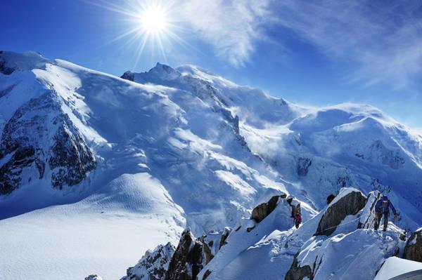 Chamonix Wall Art - Photograph - Alpinist In Mont Blanc by Miller Tseng