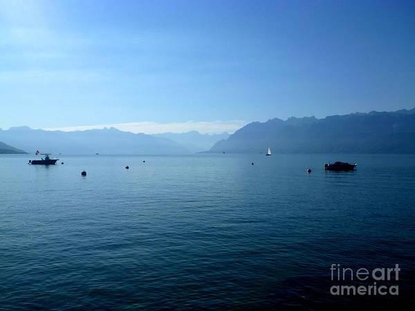 Alps And Leman Lake Art Print