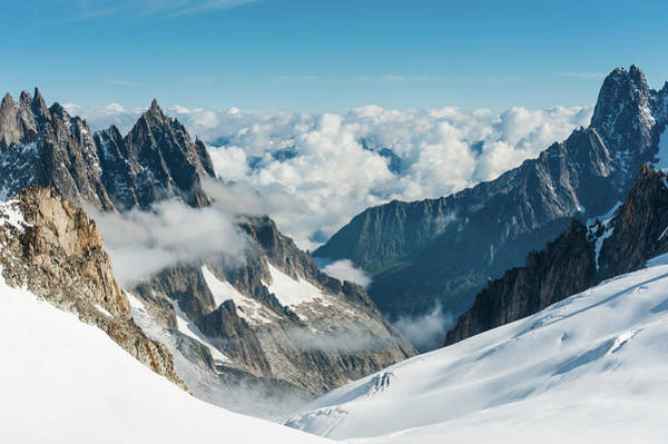 Chamonix Wall Art - Photograph - Alps Snowy Glaciers Dramatic Pinnacles by Fotovoyager