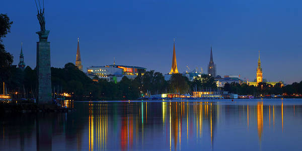 Photograph - Alster Lights by Marc Huebner
