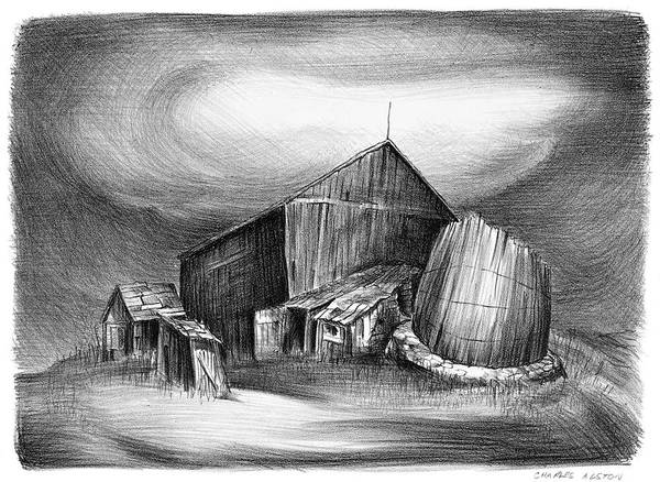 Wall Art - Painting - Alston Barn And Silo, C1940 by Granger