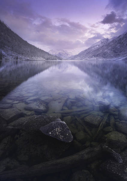 Clear Water Photograph - Altai Russia by Rostovskiy Anton