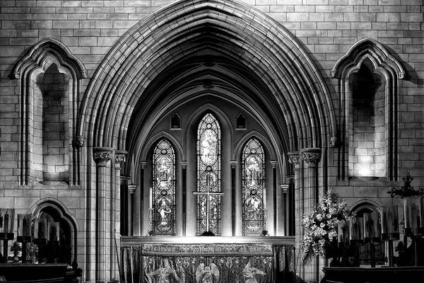 Photograph - Altar At St Patricks Cathedral - Close Up by Photography  By Sai