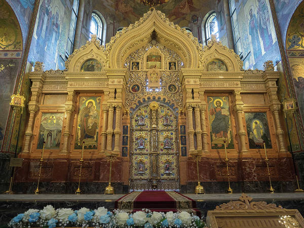 Cathedral Of Christ The Savior Photograph - Altar Of A Church, Church Of The Savior by Panoramic Images
