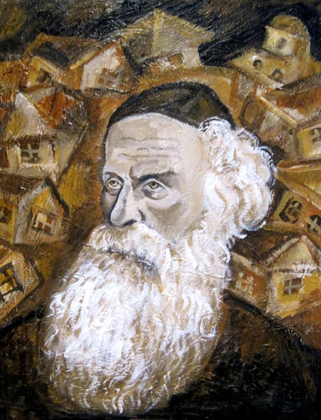 Jewish Music Wall Art - Painting - Alter Rebbe by Leon Zernitsky