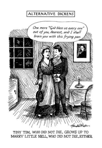 Grow Up Drawing - Alternative Dickens Tiny Tim by J.B. Handelsman