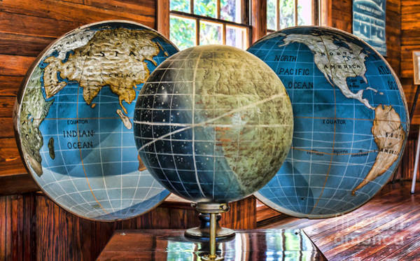 Wall Art - Photograph - Split Globe At The Koreshan State Historic Site In Florida by William Kuta