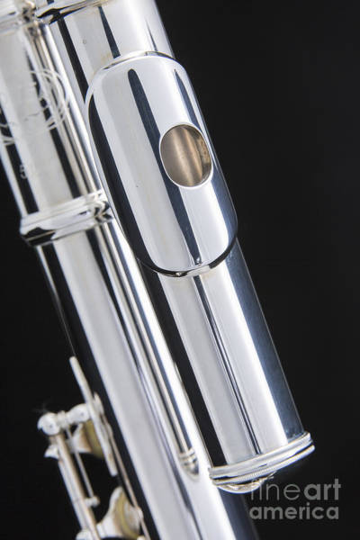 Photograph - Alto Flute Instrument Mouthpipe Photograph In Color 3454.02 by M K Miller
