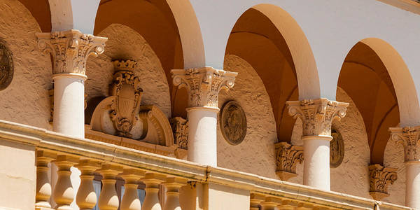 Photograph - Alto Relievo And Columns At The Biltmore by Ed Gleichman