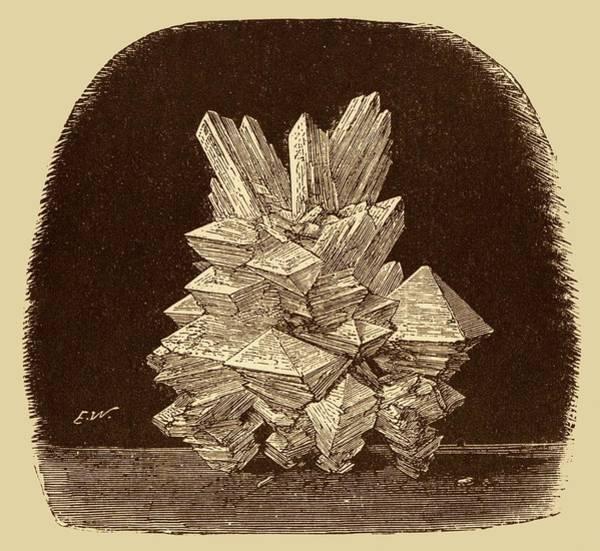 Preservative Wall Art - Photograph - Alum Crystals Illustration. by David Parker