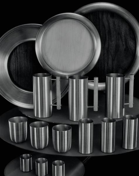 Dine Photograph - Aluminum Tableware by Martinus Andersen