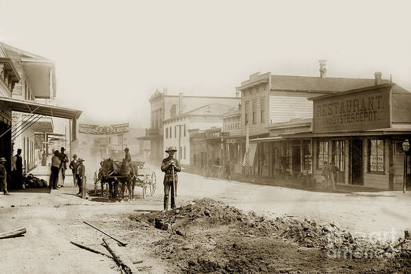 Photograph - Alvarado Street - Monterey California 1887 by California Views Archives Mr Pat Hathaway Archives