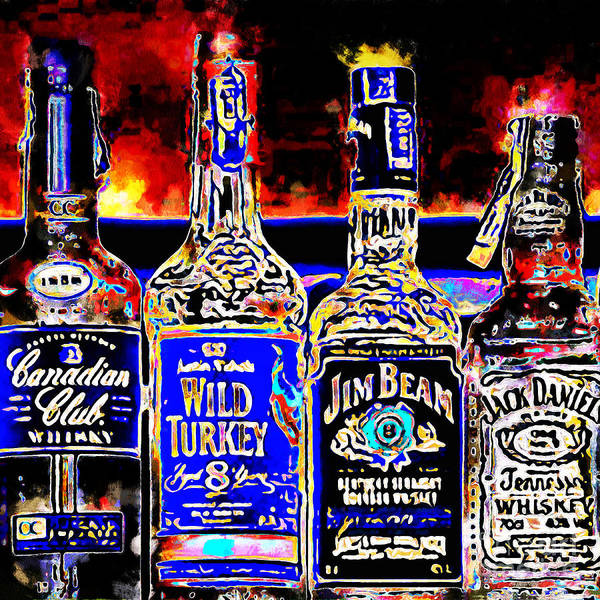 Wall Art - Photograph - Always Carry A Bottle Of Whiskey In Case Of Snakebite 20140917 V5 Square by Wingsdomain Art and Photography