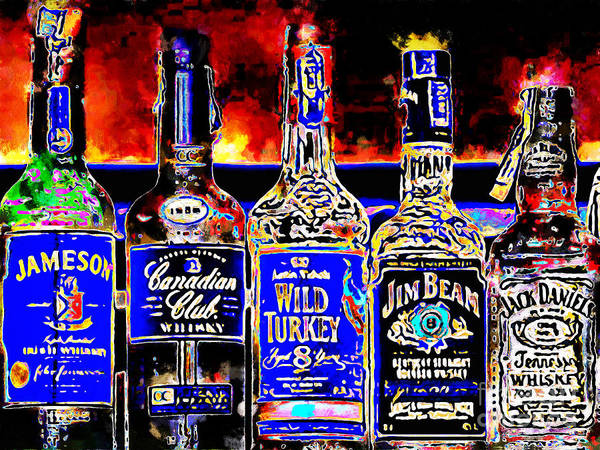 Wall Art - Photograph - Always Carry A Bottle Of Whiskey In Case Of Snakebite 20140917 V5 by Wingsdomain Art and Photography